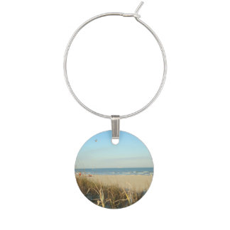 Spring Beach Scene No. 3 Wine Charm
