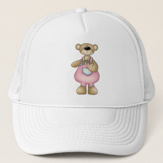 Spring Bears · Pink Dungarees Trucker Hat