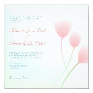Spring Beauty Square Wedding Invitation
