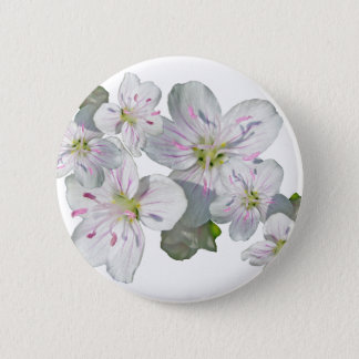 Spring Beauty Wildflower Coordinating Items Button
