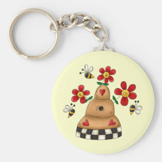 Spring Beehive Keychain