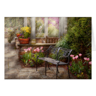 Spring - Bench - A place to retire Card