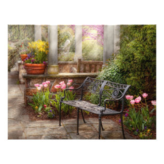 Spring - Bench - A place to retire Flyer