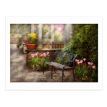Spring - Bench - A place to retire Postcard