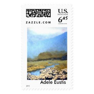 Spring Bike ride Postage Stamp