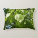 Spring Birch Leaves Green Tree Decorative Pillow