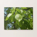 Spring Birch Leaves Green Tree Jigsaw Puzzle