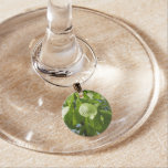 Spring Birch Leaves Green Tree Wine Glass Charm