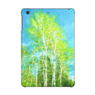Spring Birch Trees iPad Mini Retina Cover
