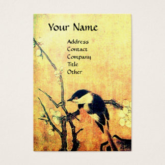 SPRING BIRD brown yellow Business Card
