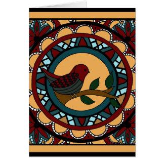 Spring Bird Mandala-greeting card