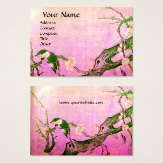 SPRING BIRD ,pink violet brown Business Card