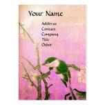 SPRING BIRD ,pink violet brown Business Cards