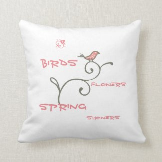 Spring Bird - Reversible Two Sided Pillow