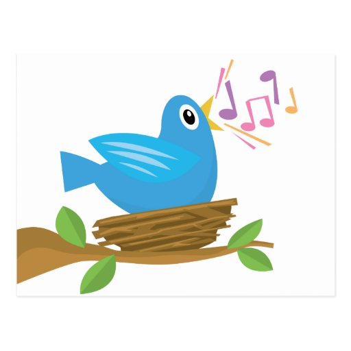 Spring Bird Song Postcard