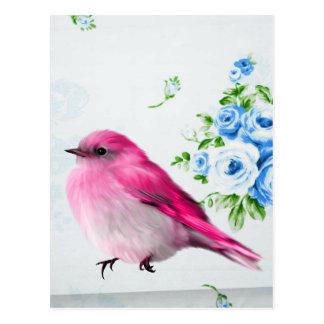 Spring birdie postcard