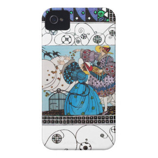 SPRING BIRDS AND SWIRLS / FASHION COSTUME DESIGNER Case-Mate iPhone 4 CASES