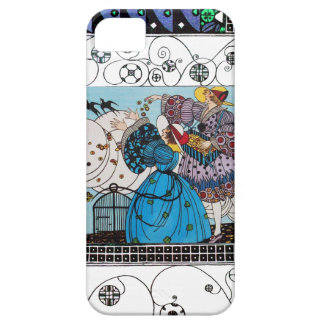 SPRING BIRDS AND SWIRLS / FASHION COSTUME DESIGNER iPhone 5 COVERS