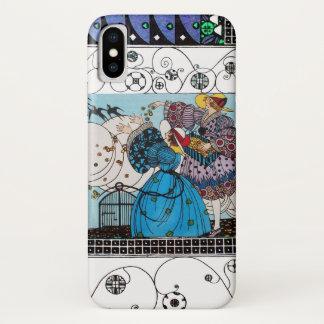 SPRING BIRDS AND SWIRLS / FASHION COSTUME DESIGNER iPhone X CASE