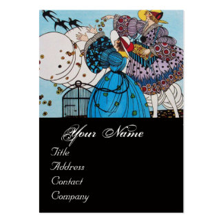 SPRING BIRDS / BEAUTY FASHION  COSTUME DESIGNER LARGE BUSINESS CARD