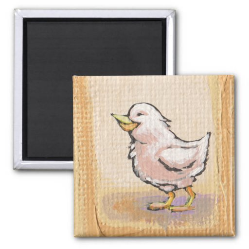 Spring Birds - cute fun colorful painting art Magnet