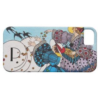 SPRING BIRDS /  FASHION COSTUME DESIGNER MONOGRAM iPhone 5 COVER