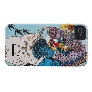 SPRING BIRDS /  FASHION COSTUME DESIGNER MONOGRAM iPhone 4 CASES
