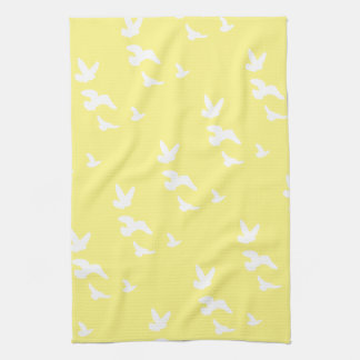 Spring Birds in Flight | Custom Background Color Towel