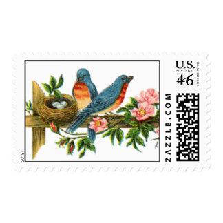 Spring Birds Nest Stamps