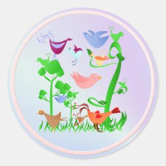 Spring Birds Sticker
