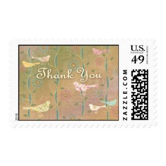 Spring Birds ThankYou Stamp