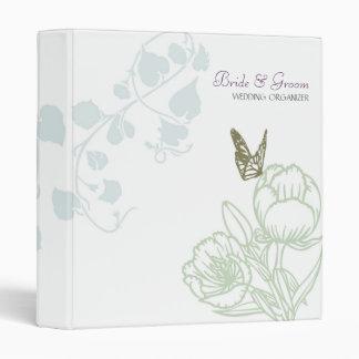 Spring Bliss (Peony) Wedding 3 Ring Binder