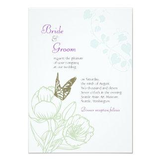 Spring Bliss (Peony) Wedding Card