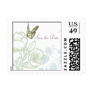 Spring Bliss (Peony) Wedding Save the Date Postage Stamps