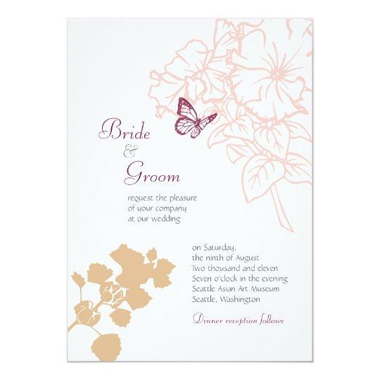 Spring Bliss (Zinnia) Wedding Card