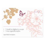 Spring Bliss (Zinnia) Wedding RSVP Card Business Cards