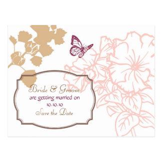Spring Bliss (Zinnia) Wedding Save the Date Postcard