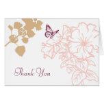 Spring Bliss (Zinnia) Wedding Thank You Greeting Card
