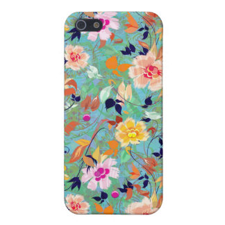 Spring Bloom-Abstract Flower Pern iPhone SE/5/5s Cover