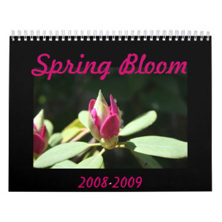 Spring Bloom Calendar