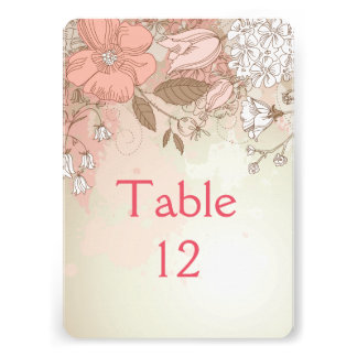 Spring Bloom Wildflowers Table card