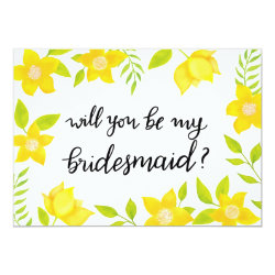 Spring Bloom | Yellow Florals | Bridesmaid Card