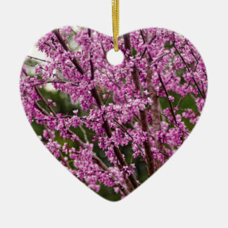 Spring Blooming Eastern Redbud Blossoms Ceramic Ornament