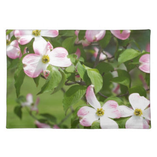 Spring Blooming Pink Dogwood Blossoms Placemat