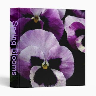 Spring Blooms Binder With Pansies Blooms