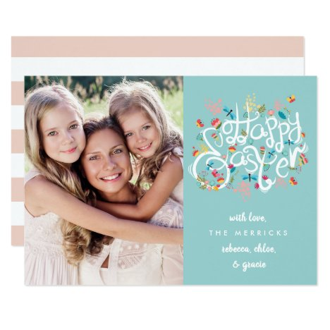 Spring Blooms Easter Photo Card
