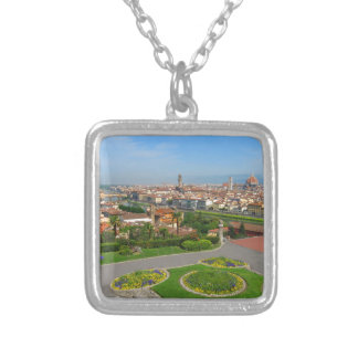 Spring blooms in Florence Silver Plated Necklace