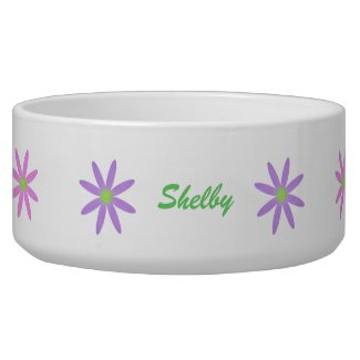 Spring Blooms: Personalized Pet Bowls petbowl