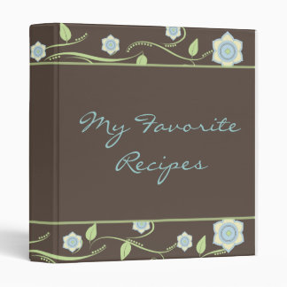Spring Blooms Recipe Book Binder