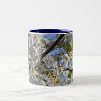 Spring Blooms Two-Tone Coffee Mug